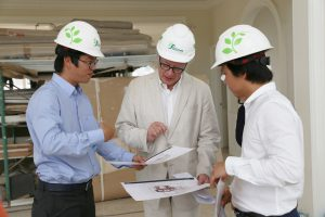 THE FORMER PRESIDENT OF THE INSTITUTE OF ARCHITECTURE WENT FOR A SIGHTSEEING THE SOL VILLAS