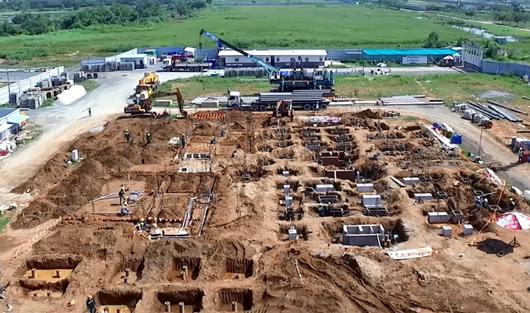 CẬP NHẬT TIẾN ĐỘ XÂY DỰNG KHU BIỆT THỰ COMPOUND CAO CẤP SOL VILLAS THÁNG 10/2018
