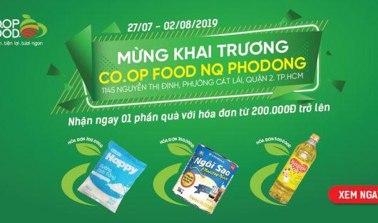 ƯU ĐÃI SIÊU HẤP DẪN MỪNG SỰ KIỆN KHAI TRƯƠNG CO.OP FOOD PHODONG