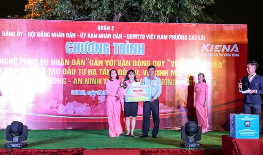 """SCC SUPPORTING THE FUND """"FOR THE POOR HOUSEHOLDS"""" OF CAT LAI WARD, DISTRICT 2"""