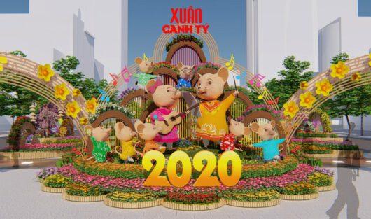 ĐƯỜNG HOA NGUYỄN HUỆ 2020 ĐÓN CHÀO THẬP KỶ MỚI