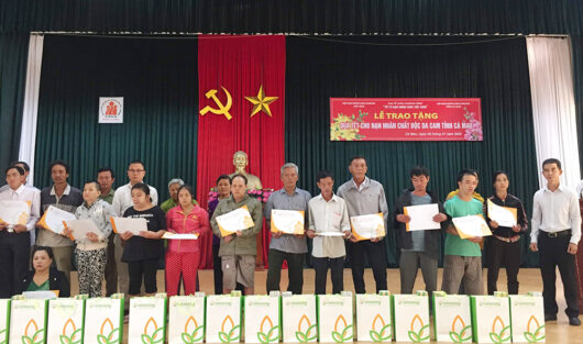 SCC OFFERED NEW YEAR GIFTS TO AGENT ORANGE VICTIMS IN THREE PROVINCES: CA MAU, BAC LIEU, AND SOC TRANG.